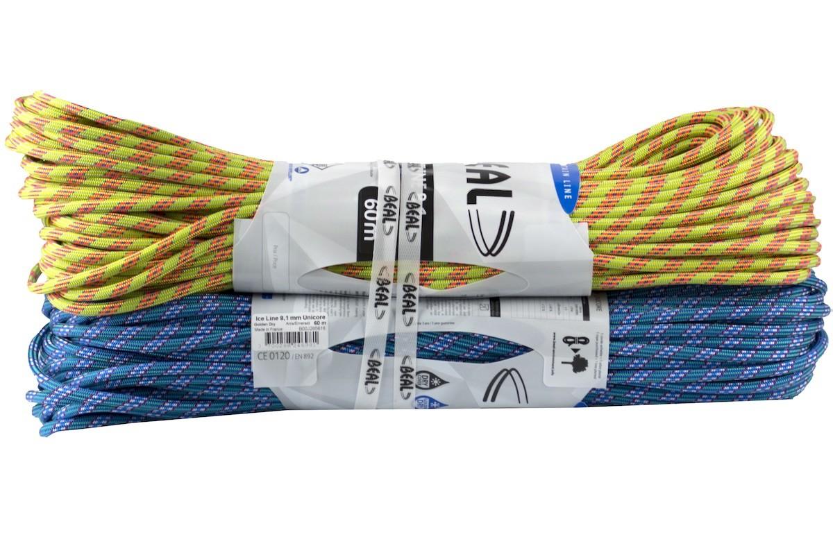 Beal - Ice Line 8,1 mm Unicore Golden Dry - 2 x 60 m - Half Rope