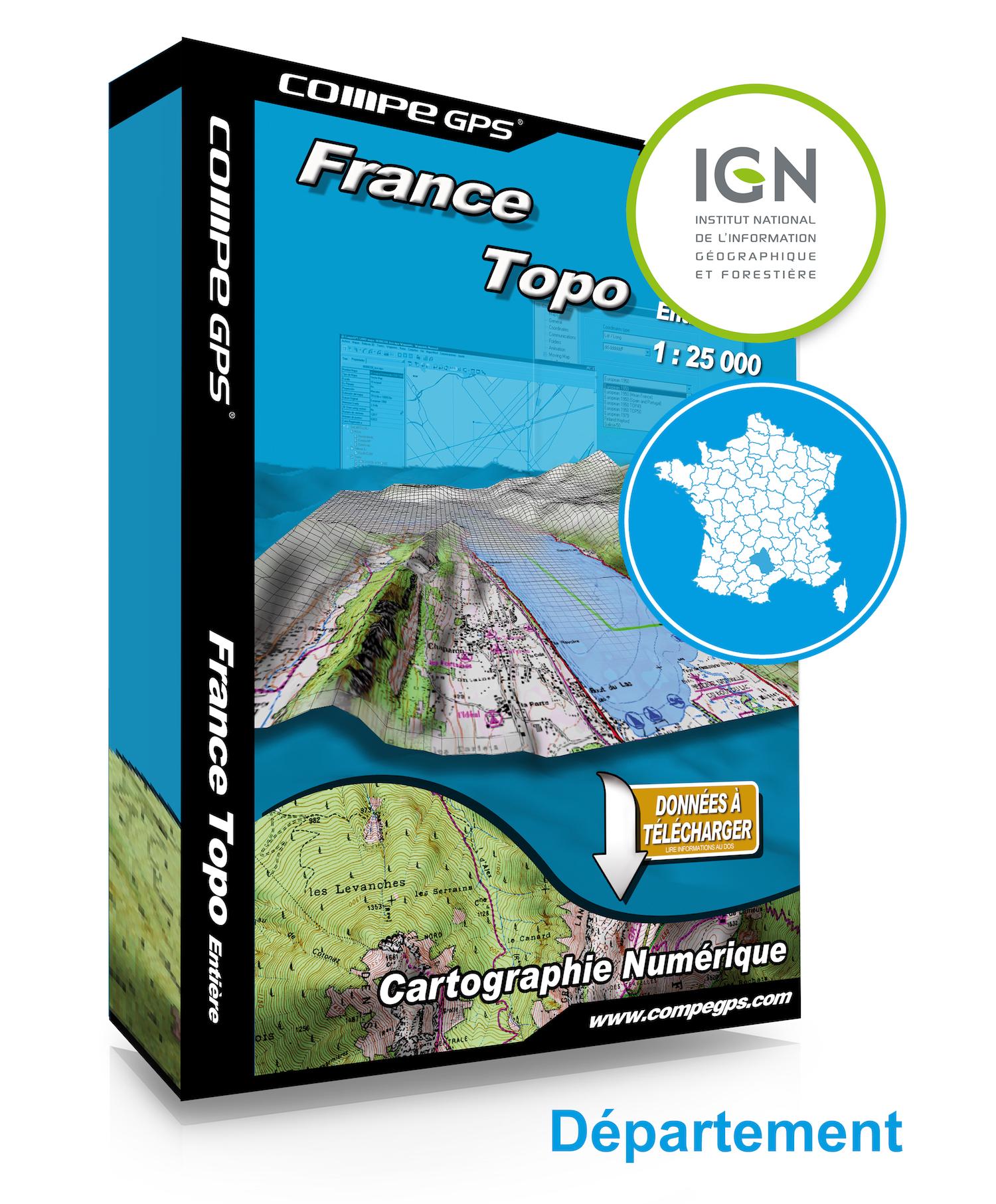 Twonav - Carte département 1:25000