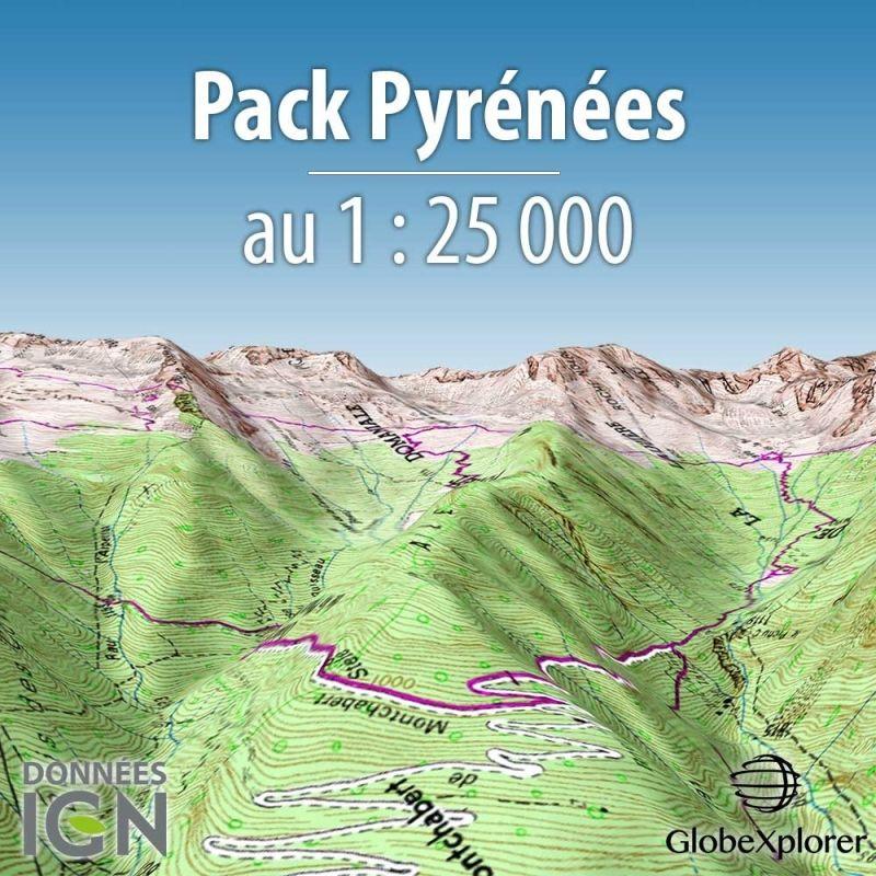 Globexplorer - Carte Topographique des Pyrénées - Pack Pyrénées - France / Espagne - 1 : 25 000