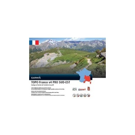 Garmin - TOPO France v4 PRO - Sud-Est - Cartographie IGN
