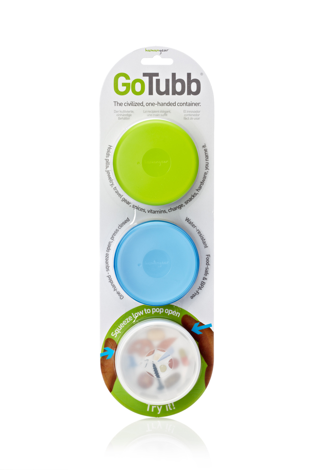 Human Gear GoToob - 3-pack - Container