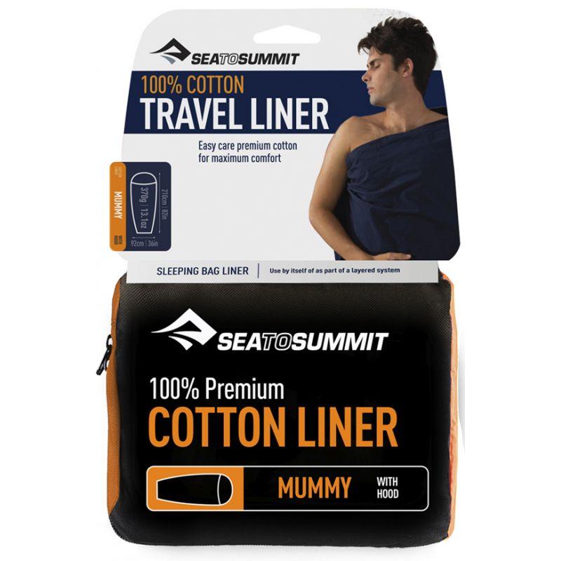 Sea To Summit Coton Traveller Pillow Insert - Silk & Wool - Sleeping Bag Liner